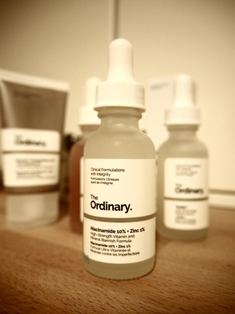 The Ordinary Skincare Acne and Aging Skin Regime packaging- dropper bottle