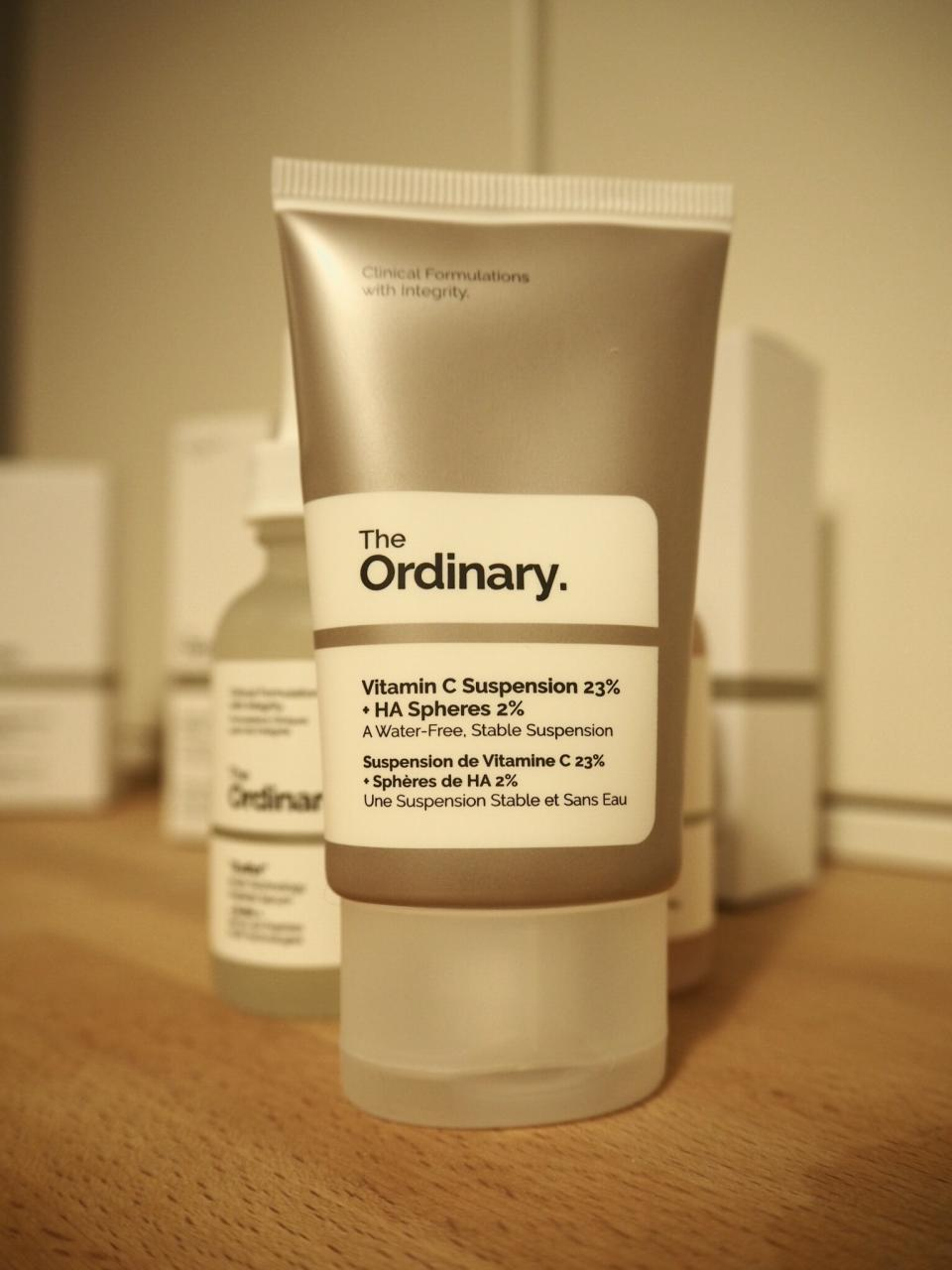 The Ordinary Skincare Acne and Aging Skin Regime packaging- flat plastic tube