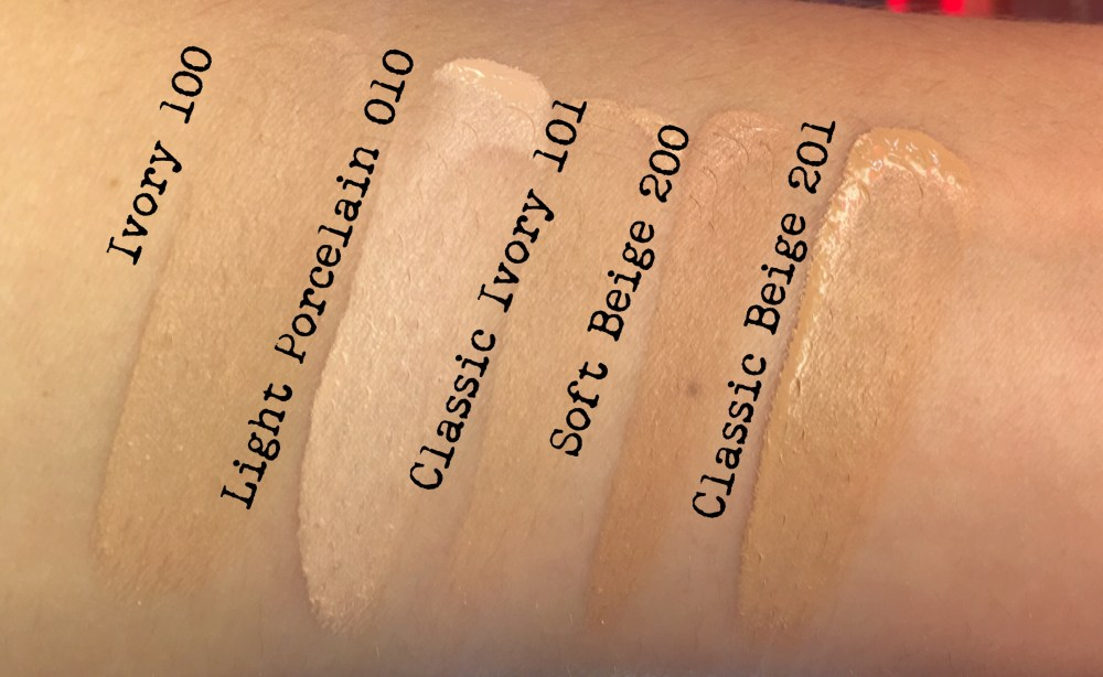Rimmel Lasting Finish Breathable Foundation Swatches