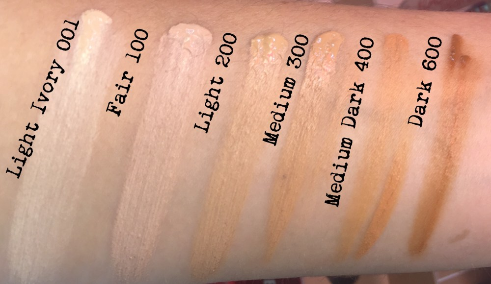 Rimmel Lasting Finish Breathable Concealer Swatches