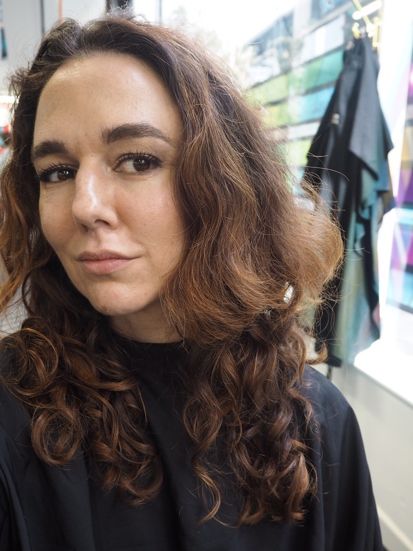 How To Transition From Shampoo To No Poo- Before- long dry frizzy curly hair
