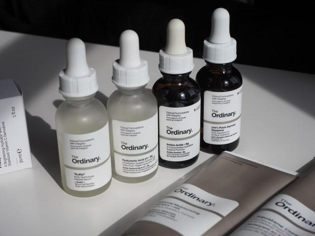 The usual regime for sensitive skin series of dropper bottles