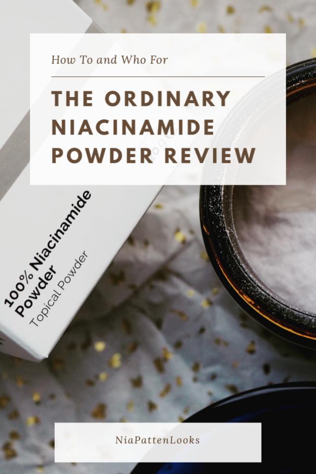 The Regular Niacinamide Powder Review Pinterest Chart