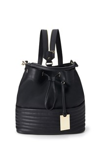 Ribbed Faux Leather Backpack ($29.80)
