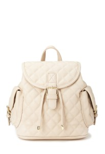 Quilted Faux Leather Backpack ($27.80) (Also comes in black)