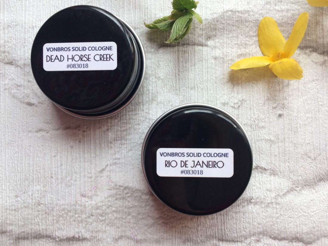 Vonbros Dead horse Creek and Rio de Janerio solid cologne