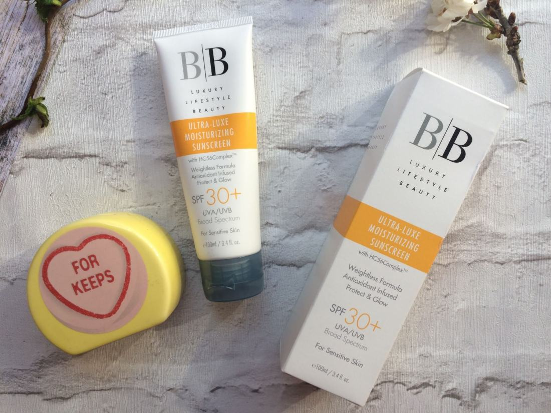 BB lifestyle sunscreen 100ml tube and packaging