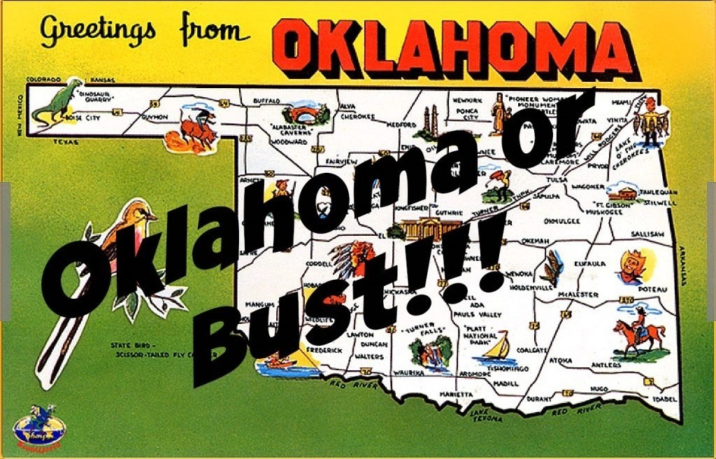 Road Trippin' Through The South - PART TWO - Greetings from Oklahoma