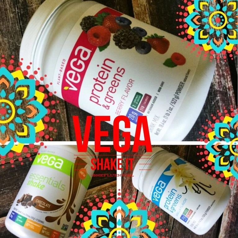 Vega Shake It -- Vega Chocolate Vanilla Berry Protein Greens