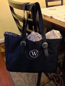 Simply Personalized Buckle Tote Bag