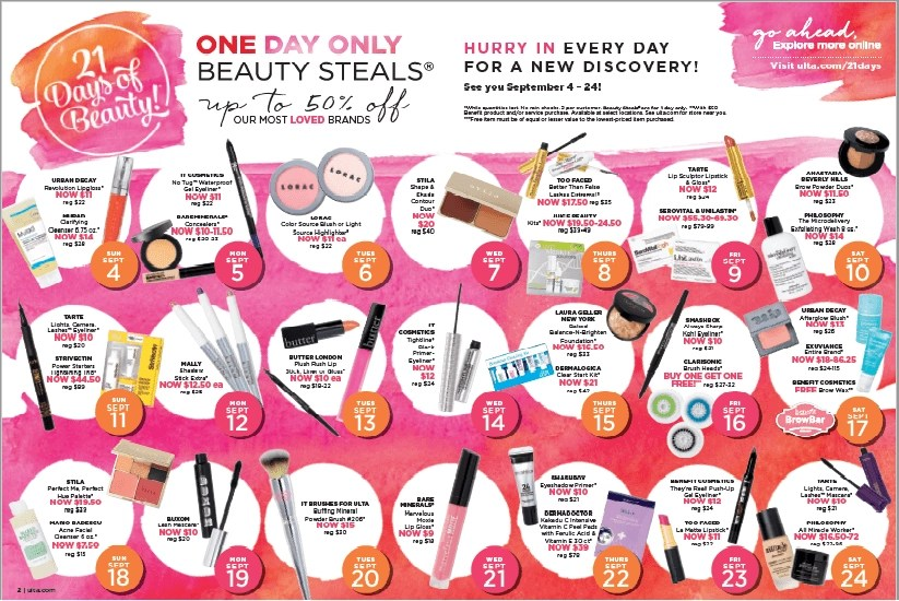 21 Days of Beauty Fall 2016 Calendar