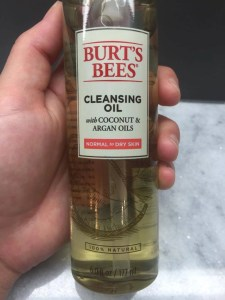 Burt's Bees Cleansing Oil!