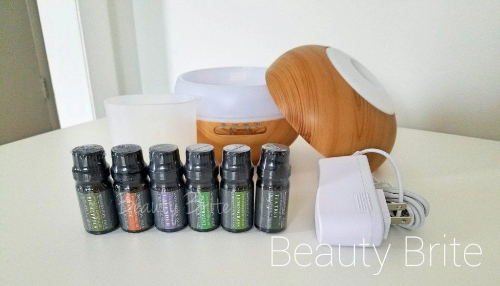 Aromatherapy Oil Diffuser open top and Oil Set