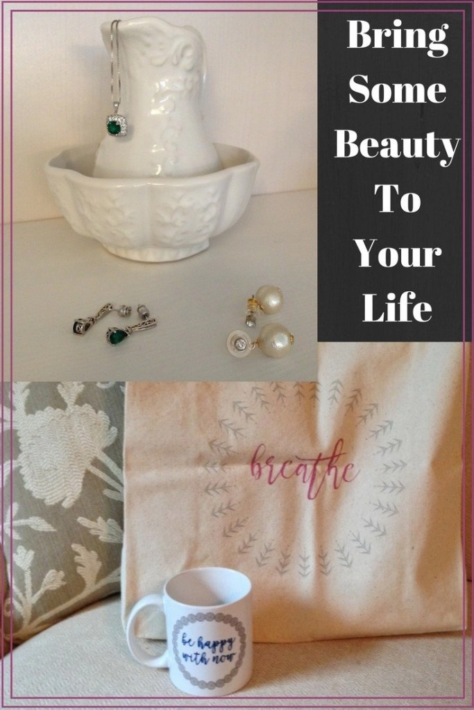 Chrysmela Earring Backs and I Choose Beauty Tote and Mug