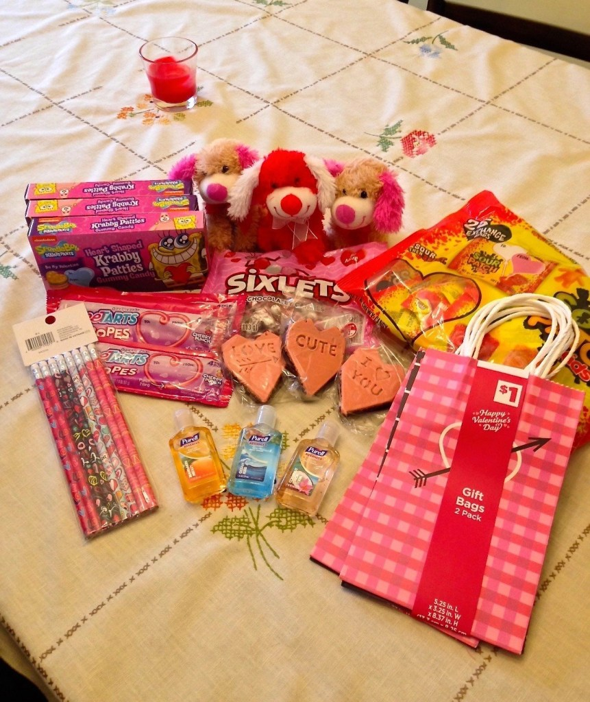 Valentines Day 2017 Treats-Krabby Patties-Sixlets-Purell Hand Sanitizer-SweetTarts RopeTarts