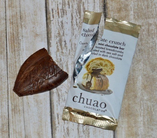 Chuao salted chocolate crunch mini bar