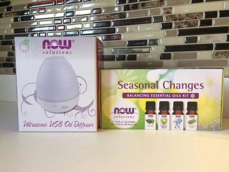 NOW Solutions Ultrasonic USB Oil Diffuser and Seasonal Changes Balancing Essential Oils Kit