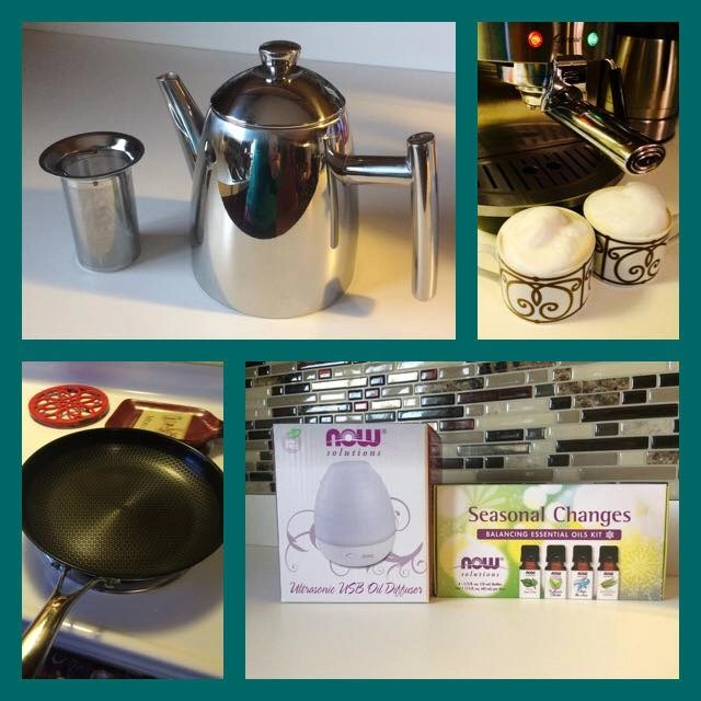 Nifty Products For Your Home - Capresso Stainless Steel Espresso & Cappuccino Machine, Frieling Fresh Solutions Teapot with Infuser Basket, Frieling Black Cube Hybrid Stainless/Nonstick Cookware Fry Pan 11-Inch, NOW Solutions Ultrasonic USB Oil Diffuser and Seasonal Changes Balancing Essential Oils Kit