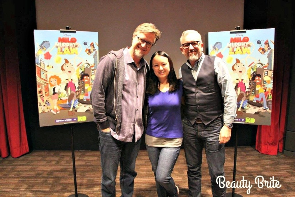 "Pictured with Dan Povenmire And Jeff ""Swampy"" Marsh"