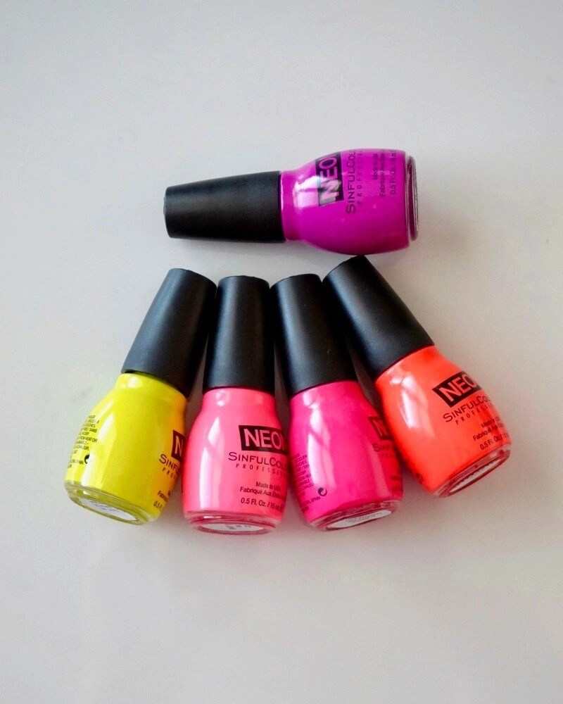 80s Icon-Inspired Nails That Will Rock Your World - Sinful Colors Neon Collection