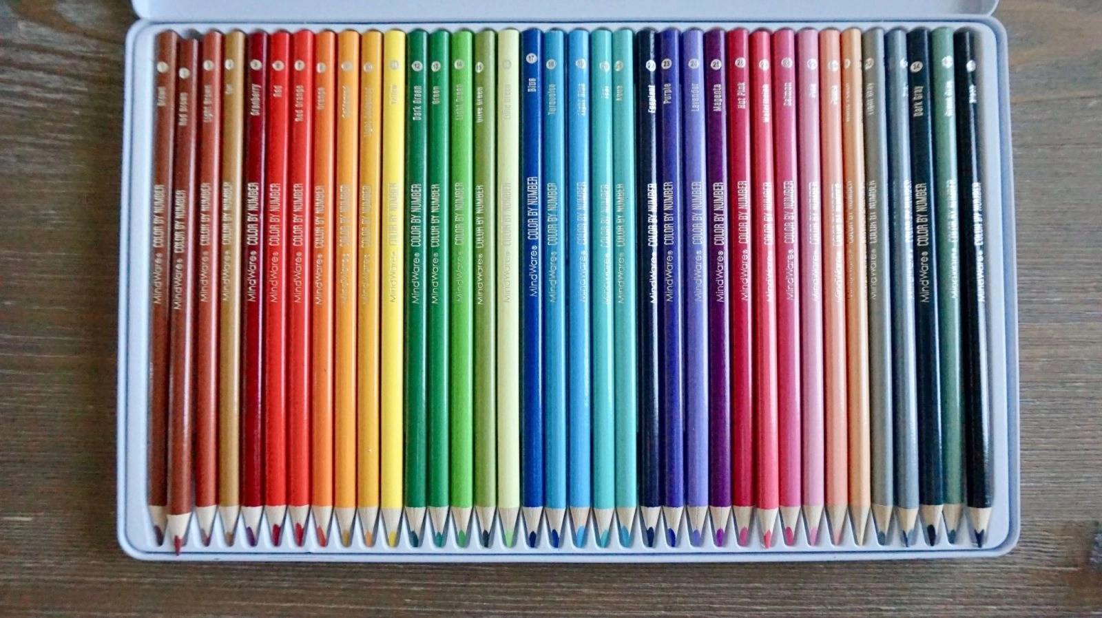 Color By Number Color Pencil Set colored pencils