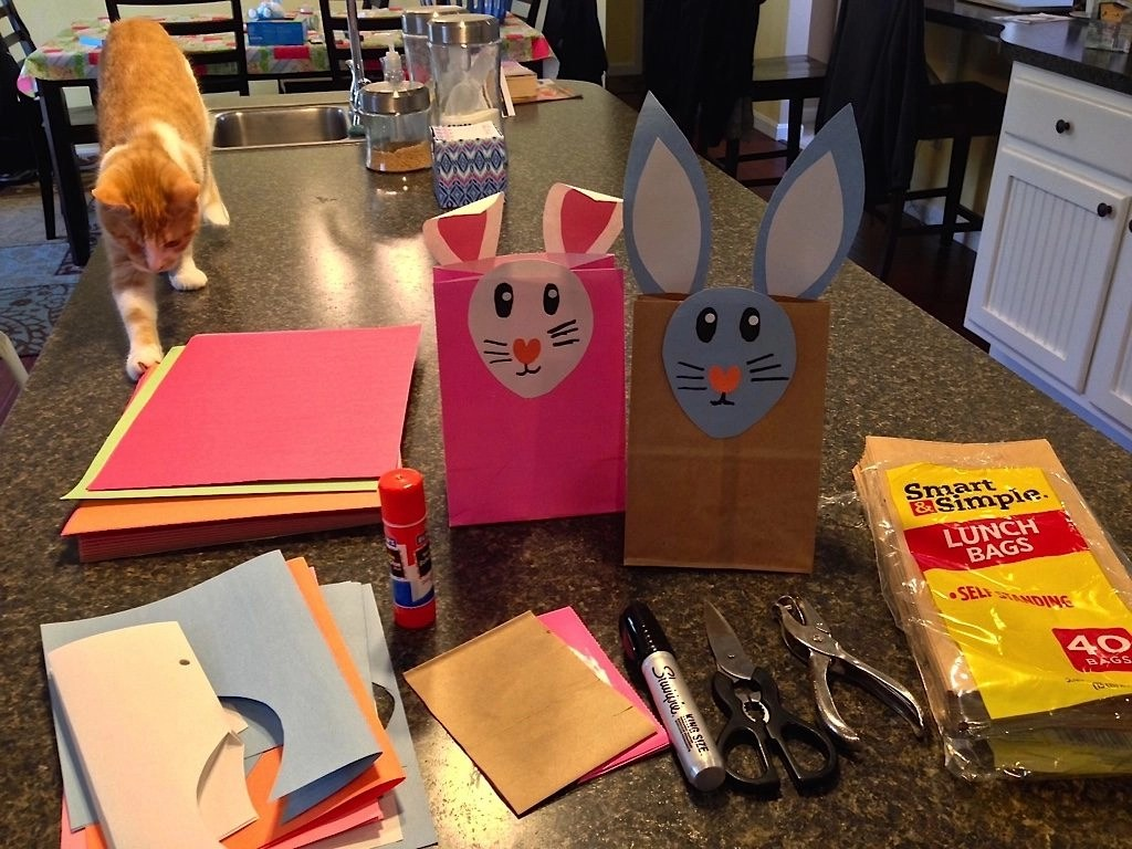 Easter Bunny Paper Bag Craft Activity