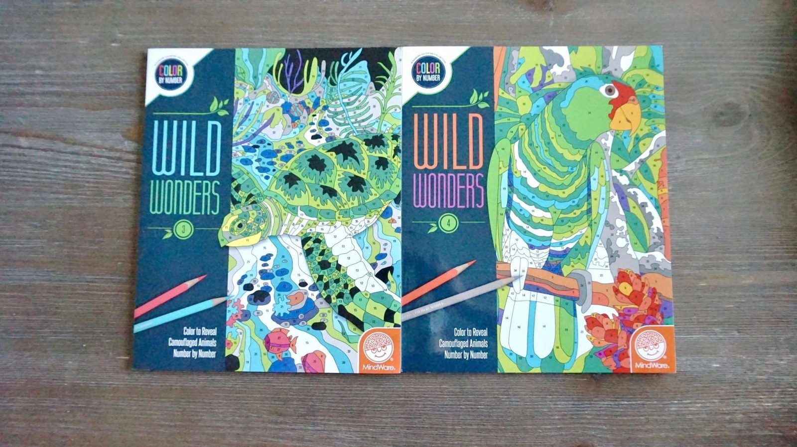 Some new Wild Wonders Color by Numbers Coloring Books