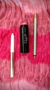 Shimmer Shape & Go Blush Single and Evercolor Shadow Stick Extra in Pink Champagne and Evercolor Starlight Waterproof Eyeliner in Pink Champagne
