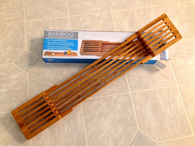 ToiletTree Products Adjustable Bamboo Bath Caddy