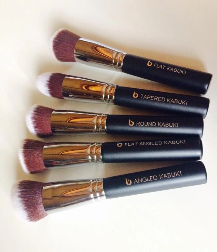 Beauty Junkees 5-Piece Kabuki Makeup Brush Set