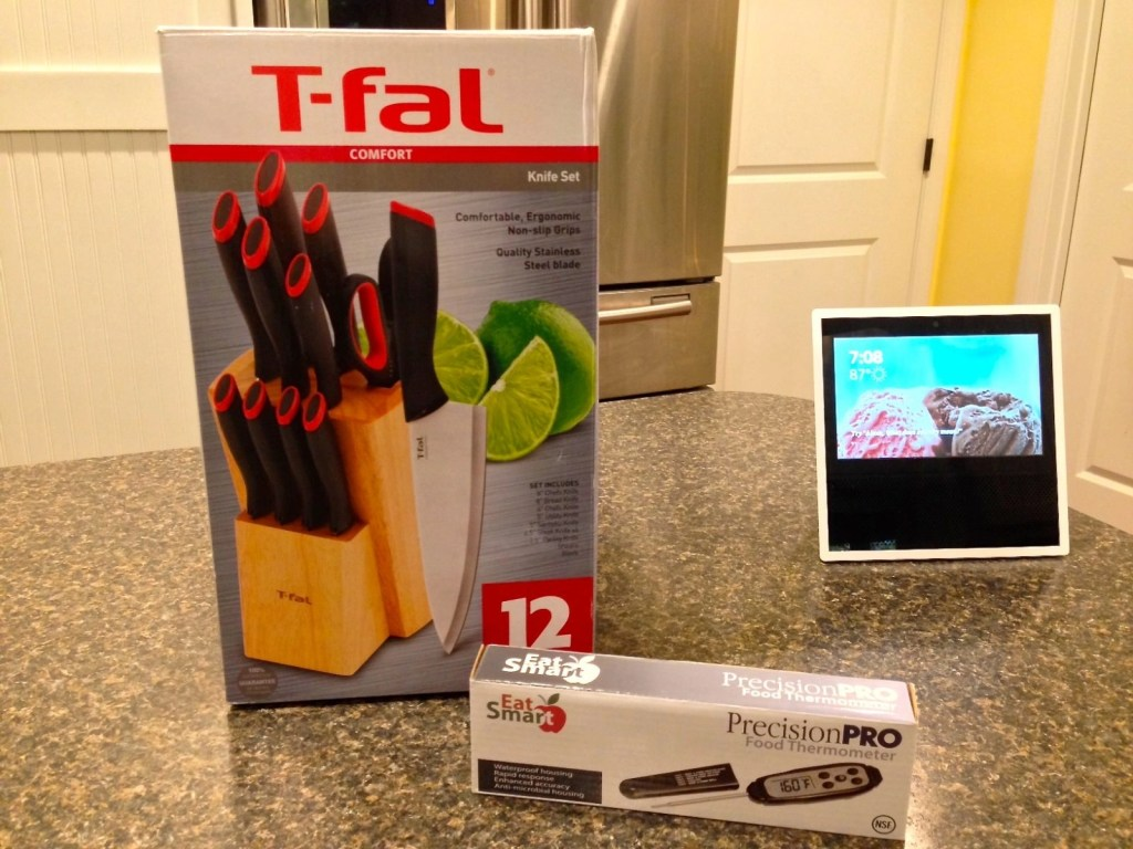 EatSmart Precision Pro Digital Food Thermometer--T-fal Comfort Stainless Steel 12pc Cutlery Set
