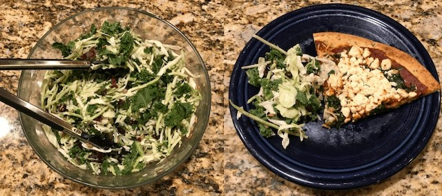 Eat Smart Sunflower Kale and Homemade pizza
