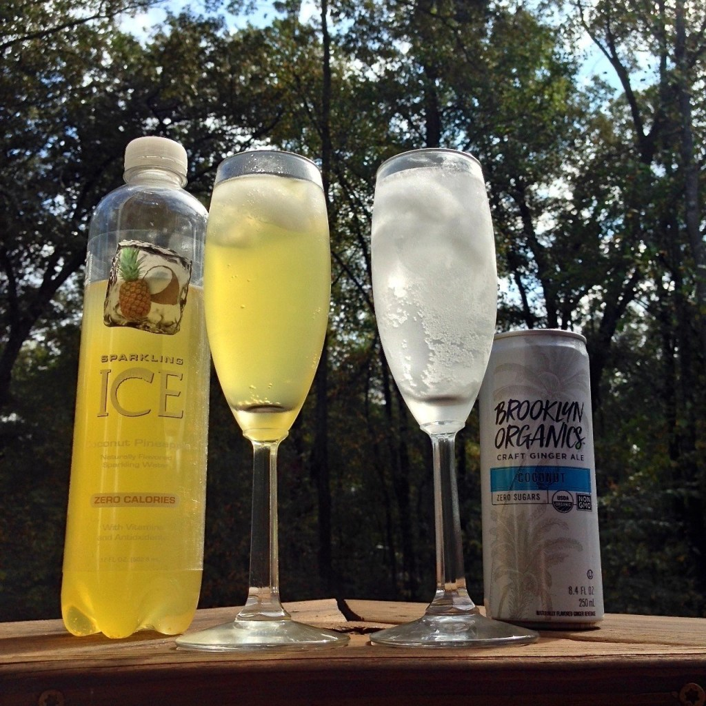 Sparkling Ice Coconut Pineapple flavored water-Brooklyn Organics Craft Ginger Ale Coconut