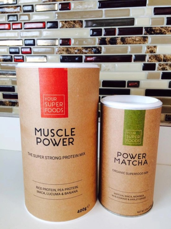 Your Superfoods Power Matcha and Muscle Power Super Strong Mix