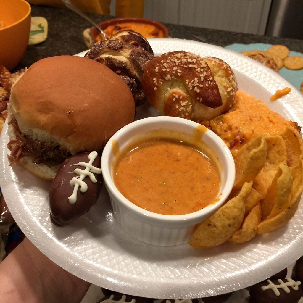 Game Day 2018-plate of yummy food