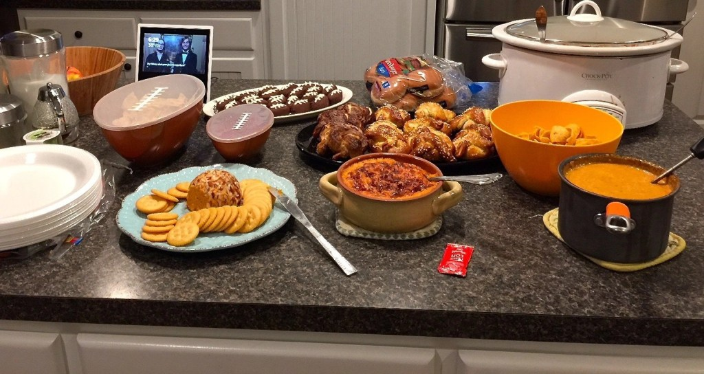 Super Bowl 2018 Food Spread