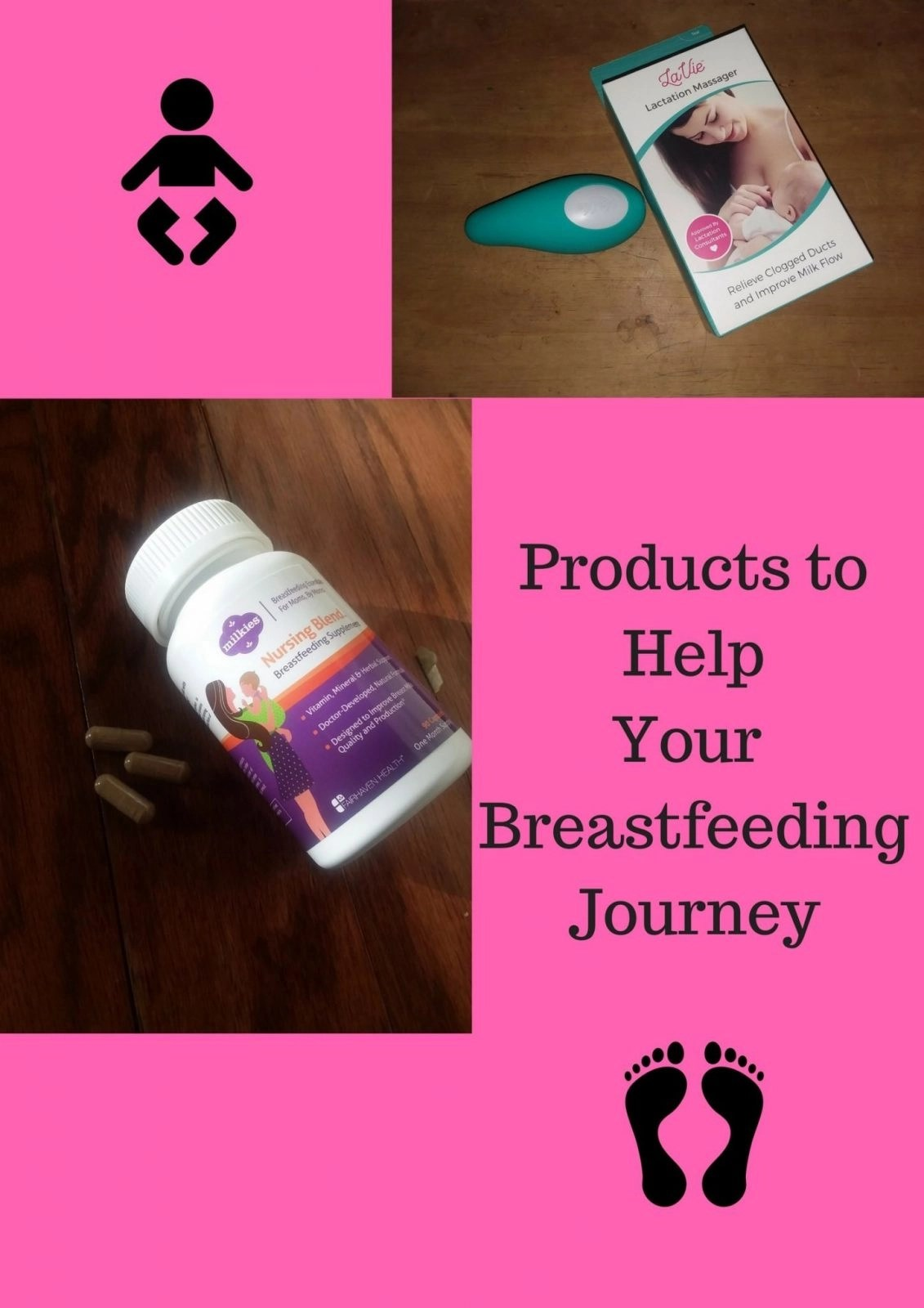 Products to Help Your Breastfeeding Journey - Milkies- Nursing Blend Breasfeeding Supplement - Lactation Massager by LaVie