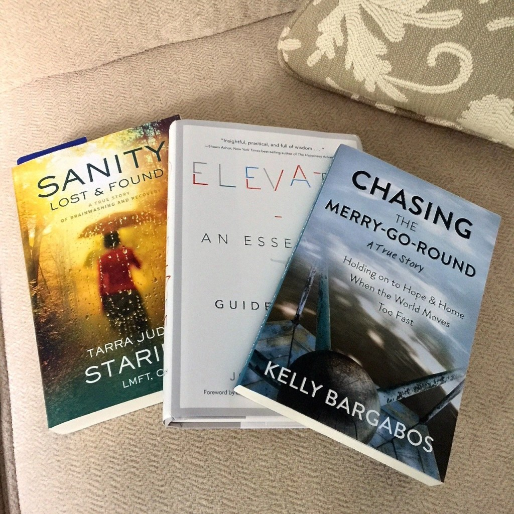 Books-Elevate by Joseph Deitsch-Sanity Lost & Found by Tarra Judson Stariell-Chasing The Merry Go Round by Kelly Bargabos