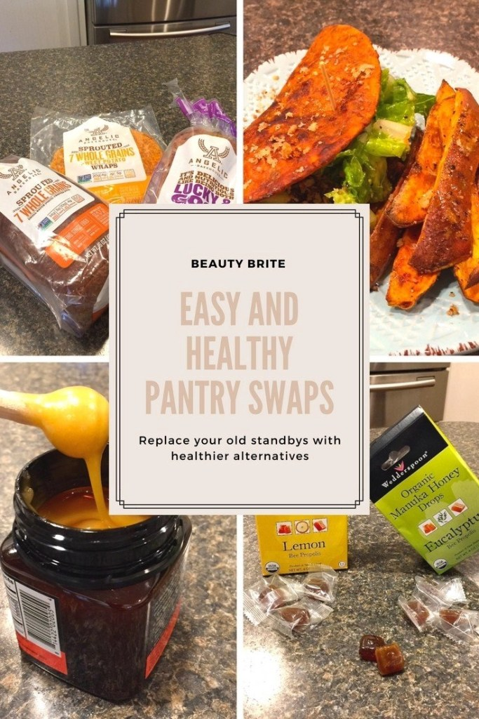 Easy And Healthy Pantry Swaps - Angelic Bakehouse Whole Grain Breads and Wraps - Wedderspoon Raw Manuka Honey