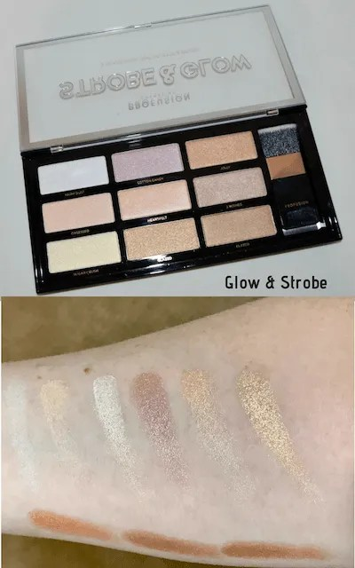 Summer Festival Ready Makeup Profusion - Glow & Strobe Palette and Swatches
