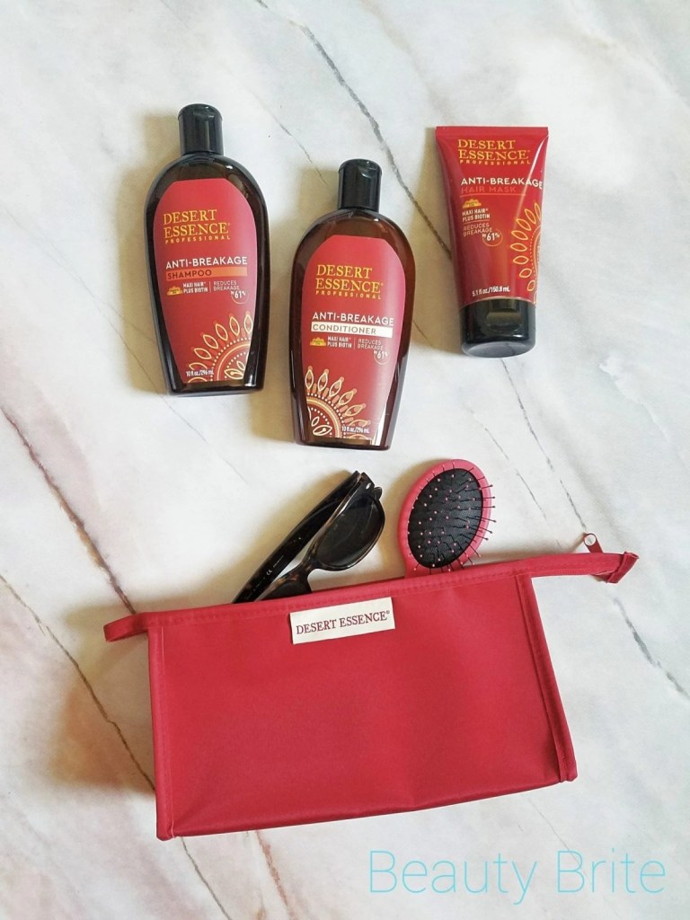 Desert Essence Anti-Breakage Shampoo, Conditioner, and Mask