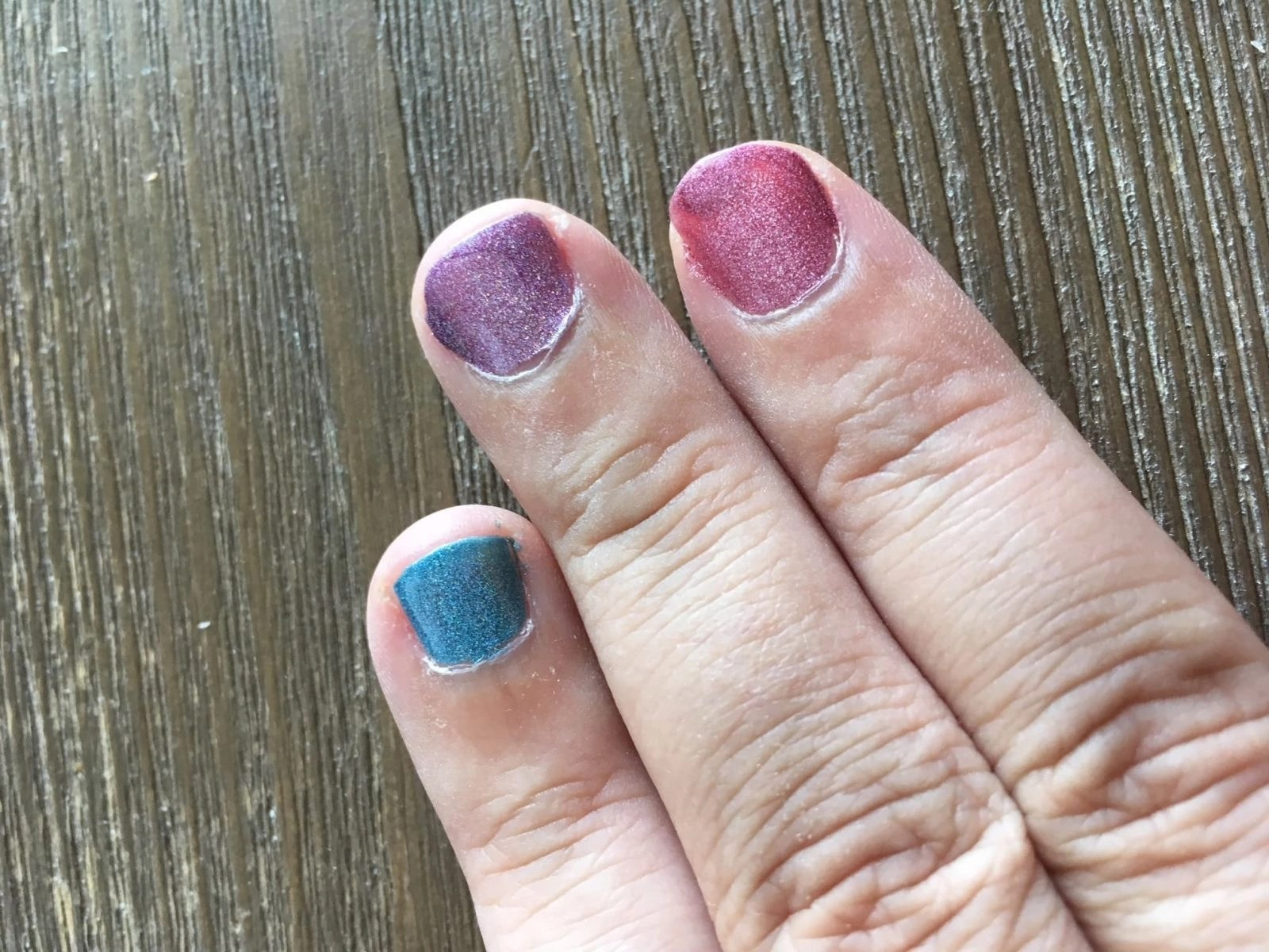 Morgan Taylor polishes nail swatches