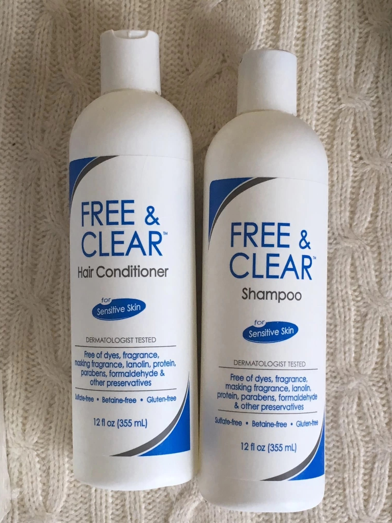 Free & Clear Shampoo & Conditioner Bottles