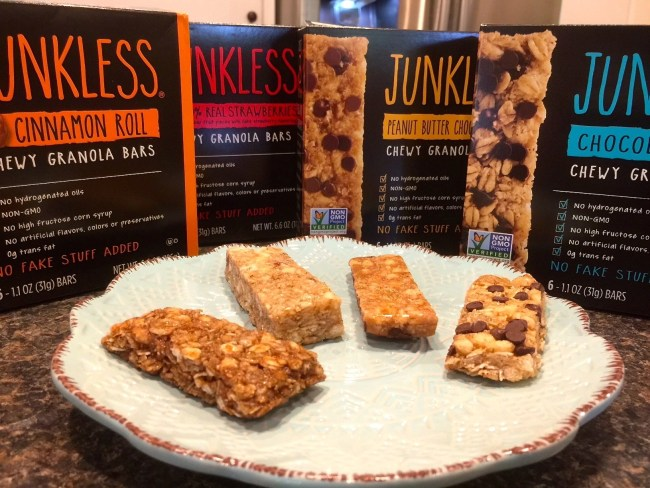 Junkless Chewy Granola Bar Varieties