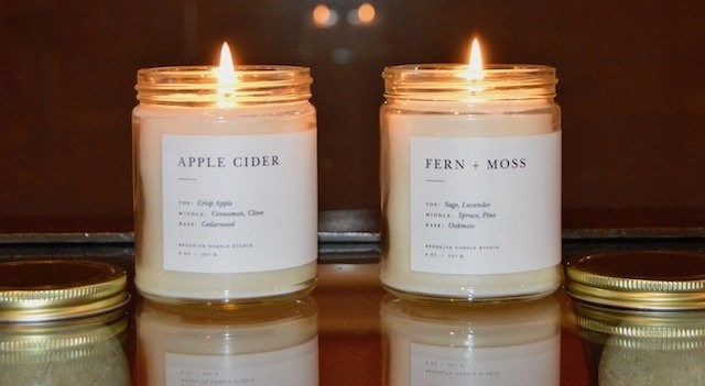 Handcrafted Candles_Minimalist in Apple Cider and Fern+Moss