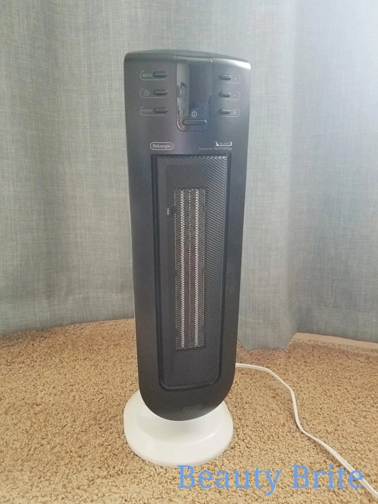 De'Longhi Silent System Ceramic Tower Heater offers an ECO function and adjustable heat settings