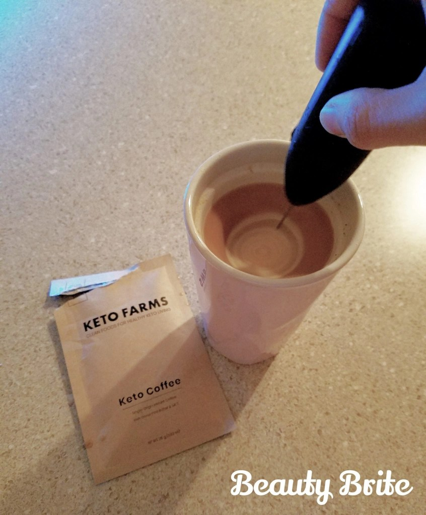 Keto Coffee blending with mini blender