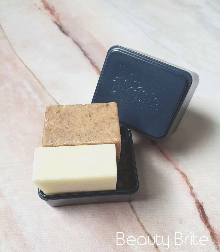 Sweet  Spicy Shampoo Bar and Wonderbar Conditioner in storage container