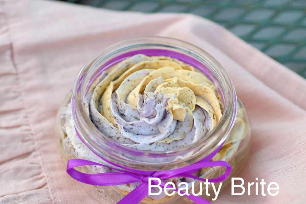 Dried Calendula  Lavender Whipped Soap - social media