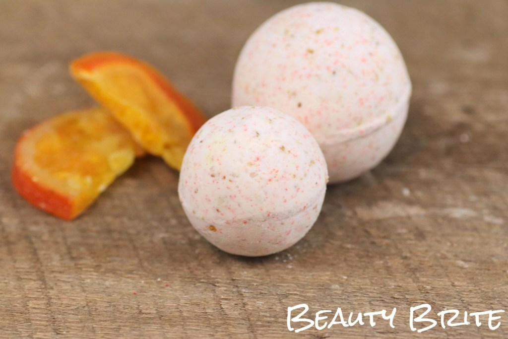 Dried Orange Peel Bath Bombs upclose